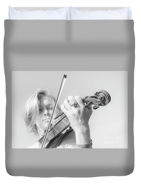 Playing Me Softly Duvet Cover by Bob Christopher