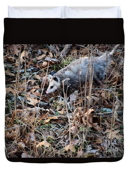 Duvet Cover featuring the photograph Playing Possum by Mark McReynolds