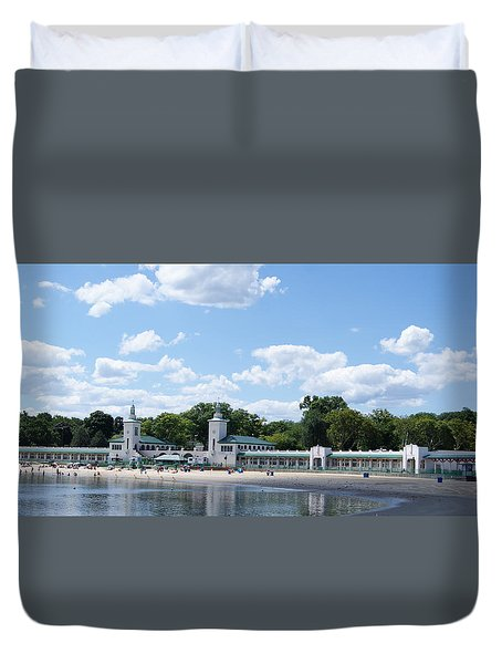 Playland Beach Boardwalk Duvet Cover