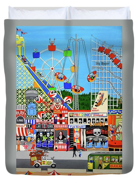 Playland In The Afterlife Duvet Cover