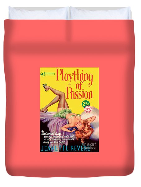 Duvet Cover featuring the painting Plaything Of Passion by Reginald Heade