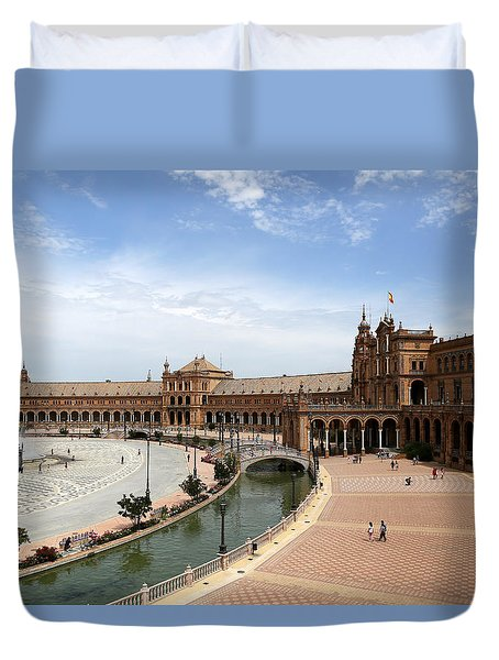 Duvet Cover featuring the photograph Plaza De Espana 4 by Andrew Fare