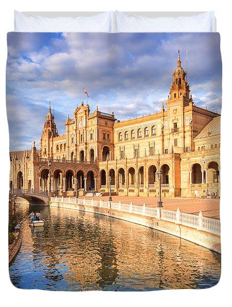 Plaza De Espana Duvet Cover