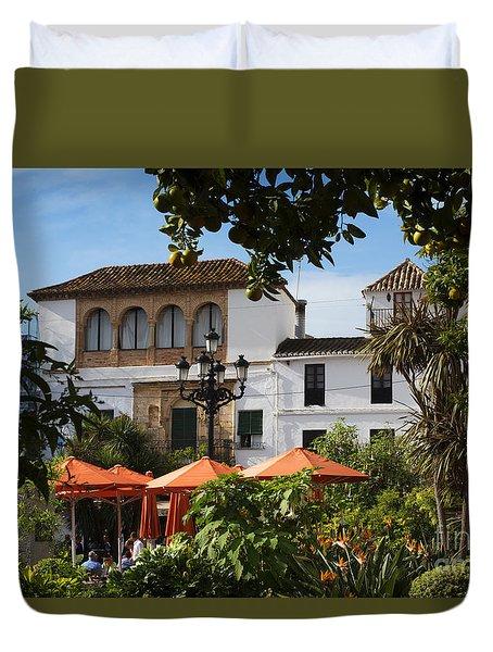 Plaza De Naranjas Duvet Cover
