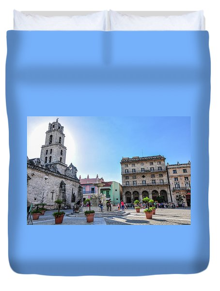 Plaza De San Francisco De Asis Duvet Cover