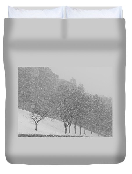 Plaza Impressionism With Kc Snow Duvet Cover