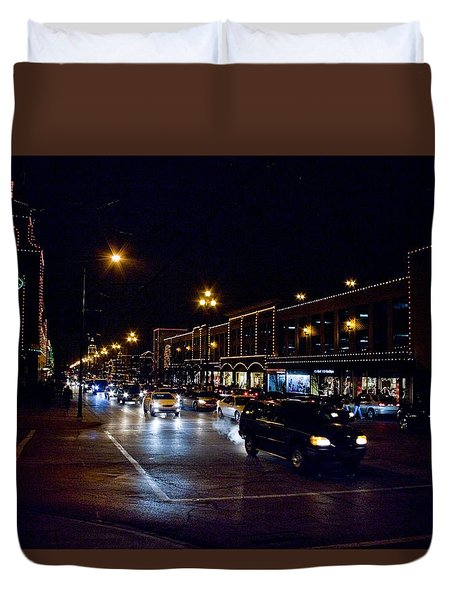 Plaza Lights Duvet Cover