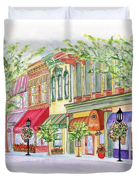 Plaza Shops Duvet Cover