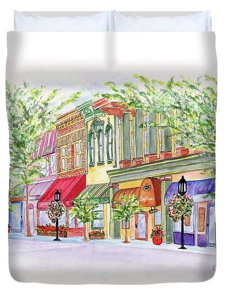 Plaza Shops Duvet Cover