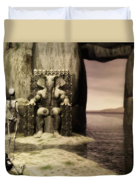 Plea Of The Penitent To The Lord Of Perdition Duvet Cover