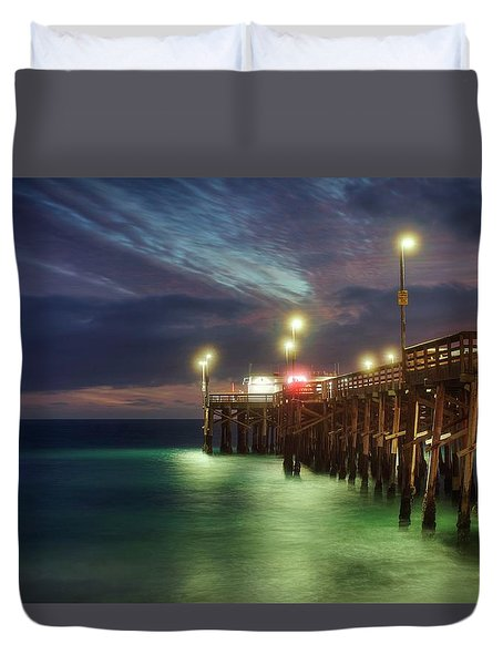 Duvet Cover featuring the photograph Pleasant Balboa Night by Quality HDR Photography