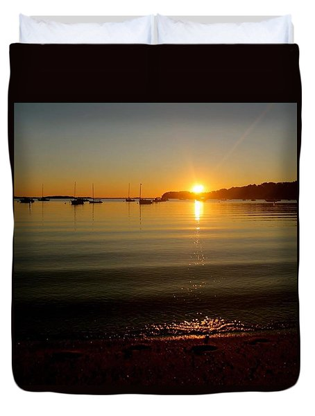 Pleasant Bay Sunrise Duvet Cover