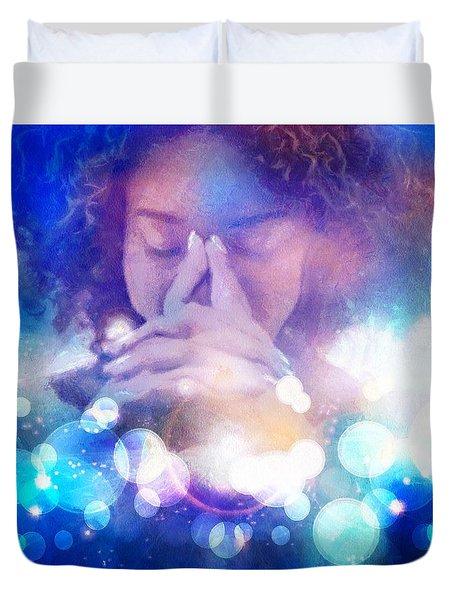 Duvet Cover featuring the digital art Pleasant Daydream by Gun Legler