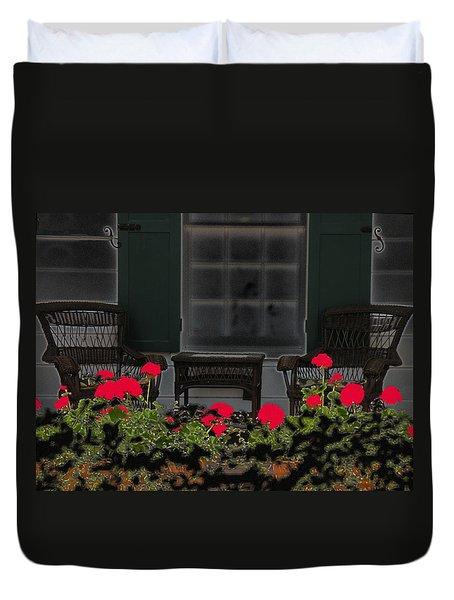 Pleasant Evening Duvet Cover by Rosalie Scanlon