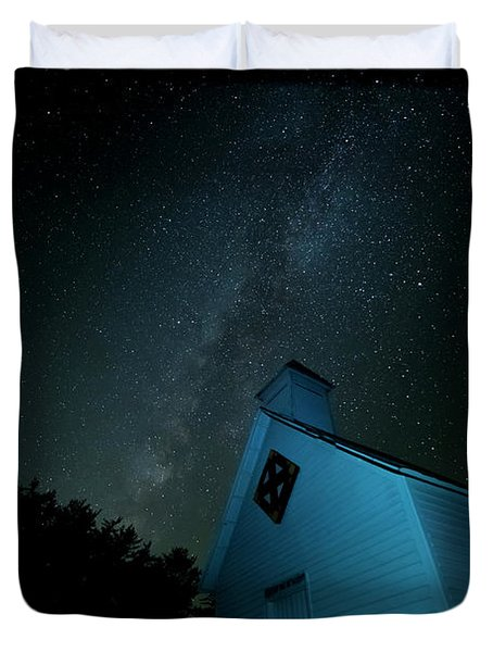 Pleasant Hill Methodist Under The Milky Way Duvet Cover
