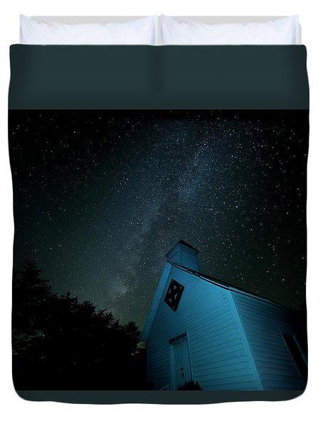 Pleasant Hill Methodist Under The Milky Way Duvet Cover