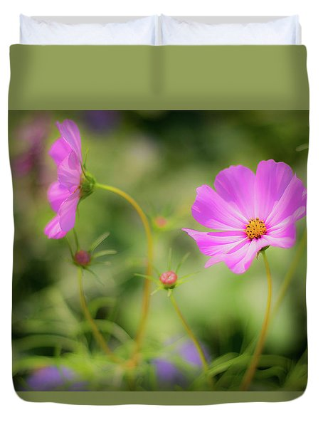 Pleasant Summer Wild Flowers Duvet Cover