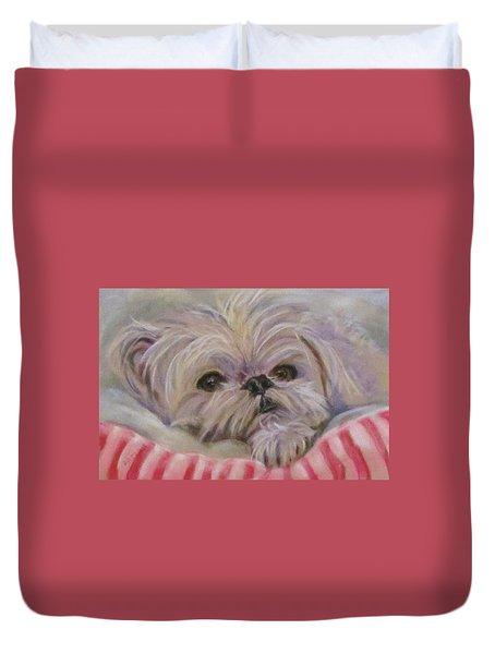Please Let Me Sleep Duvet Cover by Barbara O'Toole