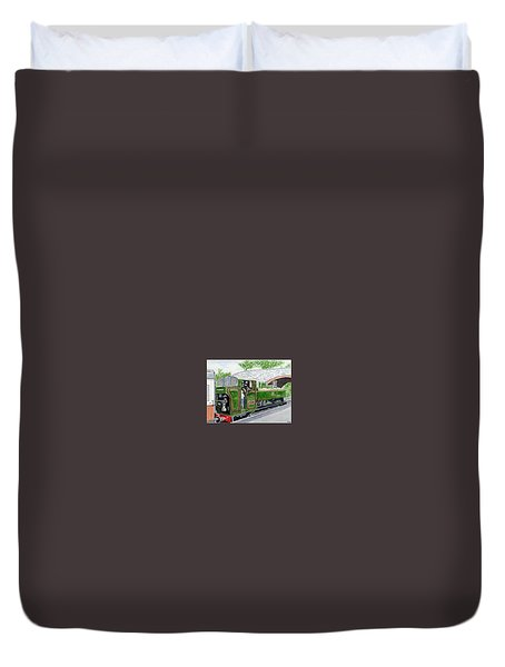 Please May I Drive? - Llangollen Steam Railway, North Wales Duvet Cover by Peter Farrow