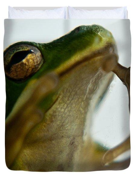Please Not In A Frogs Eye Duvet Cover
