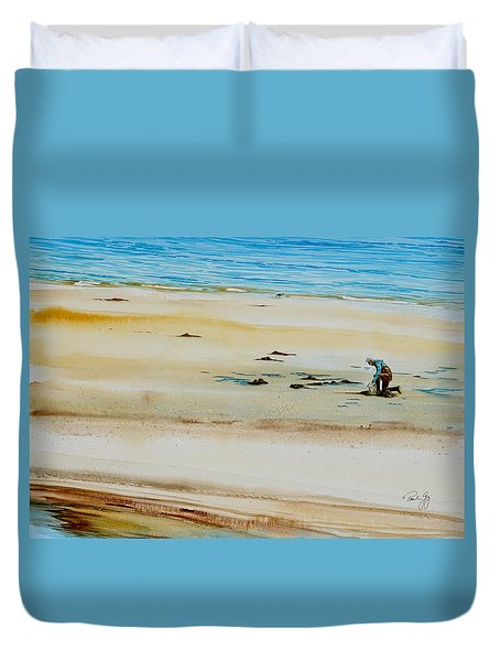 Pleasant Bay Clammer Duvet Cover