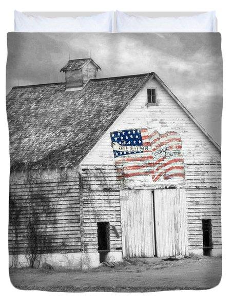 Pledge Of Allegiance Crib Duvet Cover by Kathy M Krause