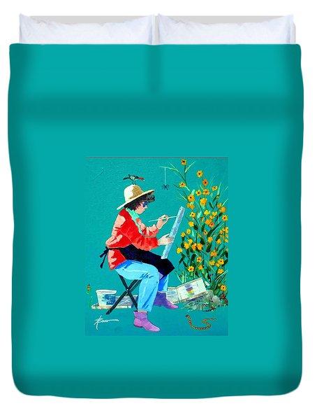 Plein Air Painter  Duvet Cover