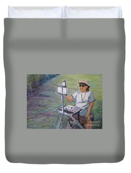 Plein-air Painter Bj Duvet Cover