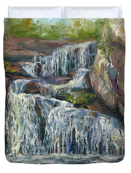 Plein Air - Waterfall Duvet Cover