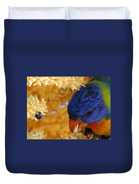 Duvet Cover featuring the photograph Plenty by Linda Hollis