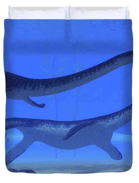 Plesiosaurus Jurassic Reptiles Duvet Cover