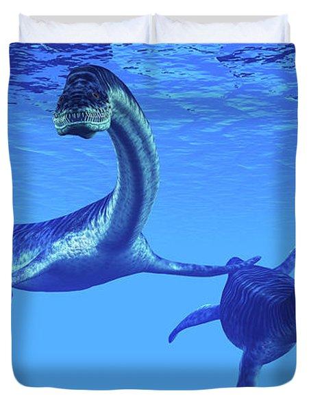 Plesiosaurus Marine Reptiles Duvet Cover
