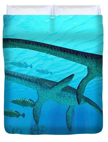 Plesiosaurus Migration Duvet Cover
