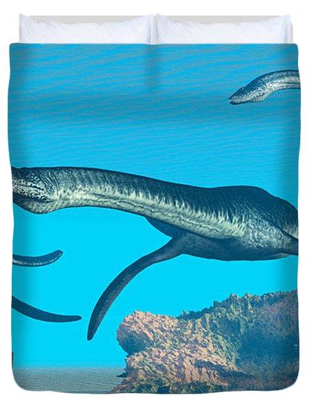 Plesiosaurus Ocean Duvet Cover