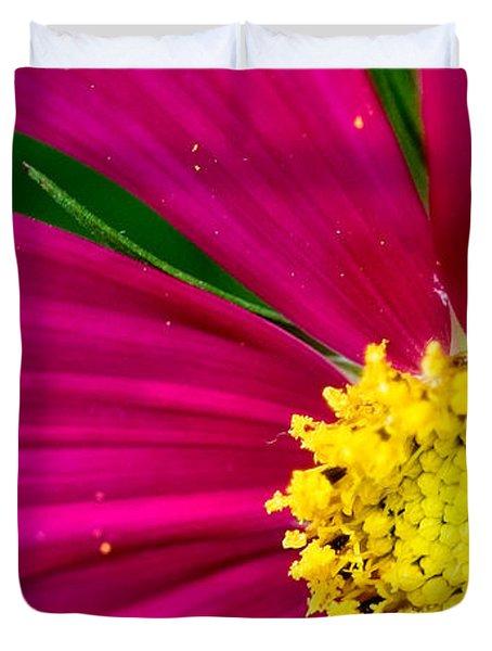 Plink Flower Closeup Duvet Cover