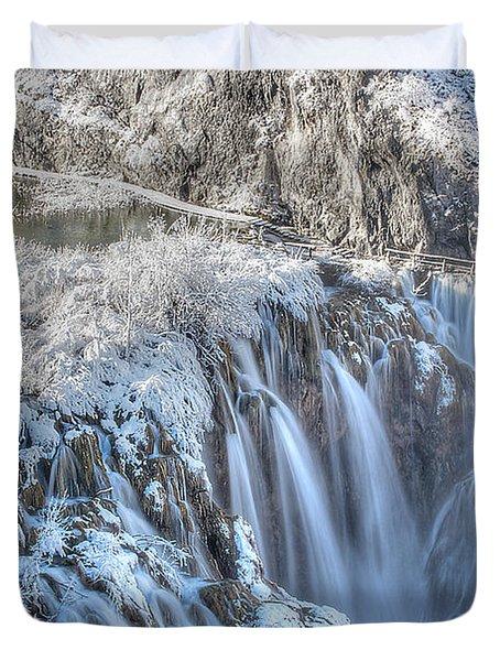 Plitvice Winter Duvet Cover