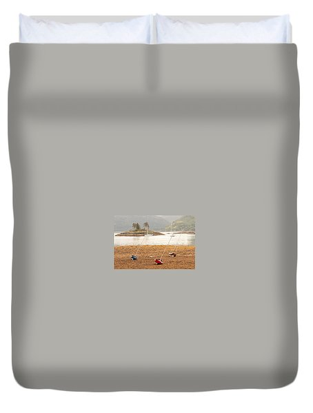 Plockton Sailboats Duvet Cover
