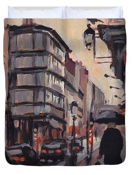 Pluie Rue De Regence Liege Duvet Cover