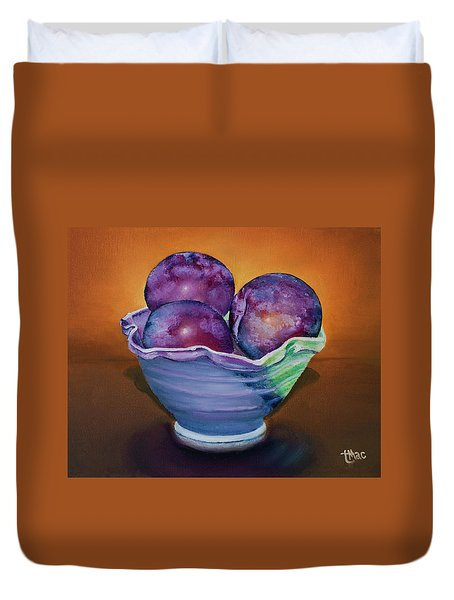 Plum Assignment Duvet Cover