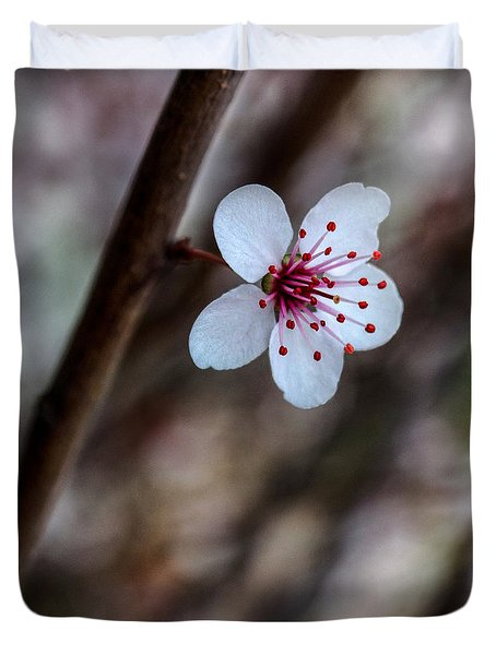 Plum Flower Duvet Cover