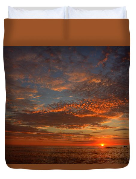 Plum Island Sunrise Duvet Cover