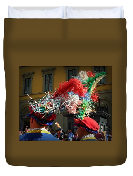 Duvet Cover featuring the photograph Plumage by Valerie Reeves