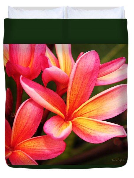 Plumeria - Pretty Pink Duvet Cover