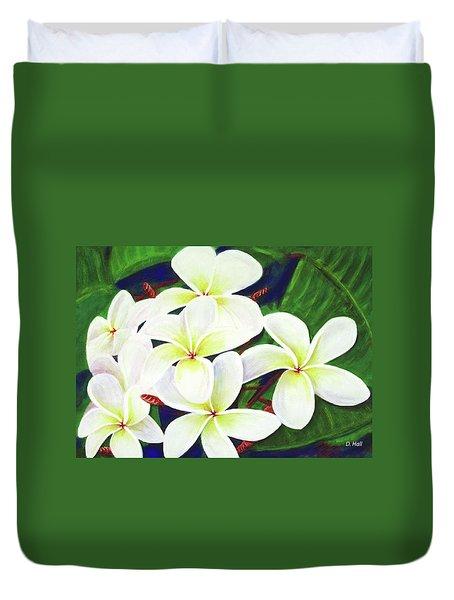 Plumeria Flower #289 Duvet Cover by Donald k Hall