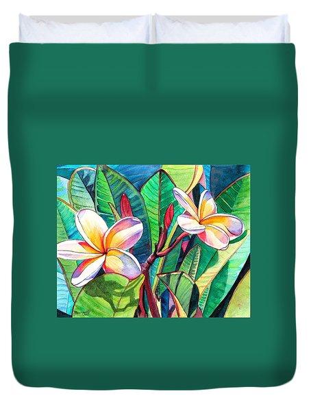Plumeria Garden Duvet Cover