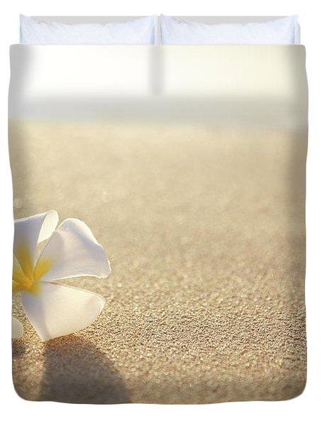Plumeria On Beach I Duvet Cover by Brandon Tabiolo - Printscapes