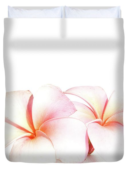 Duvet Cover featuring the photograph Plumeria by Roger Mullenhour