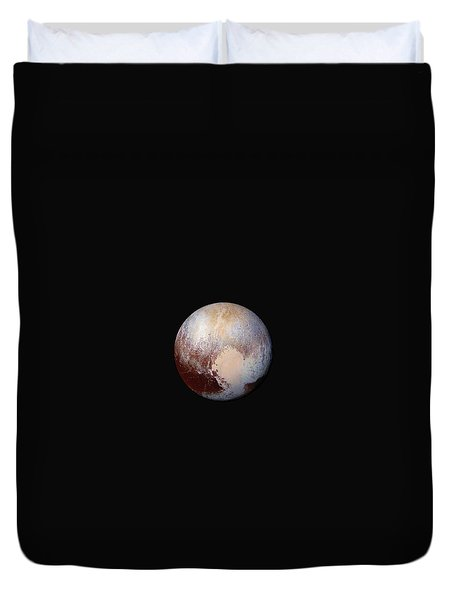 Pluto Dazzles In False Color Duvet Cover by Nasa