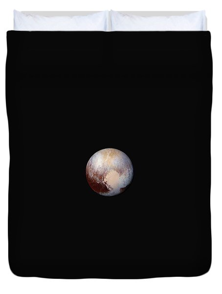 Pluto Dazzles In False Color - Square Crop Duvet Cover