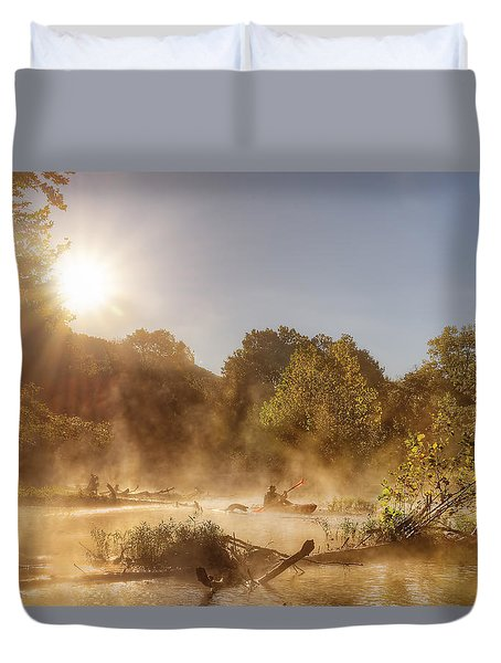Plying Steamy Waters Duvet Cover